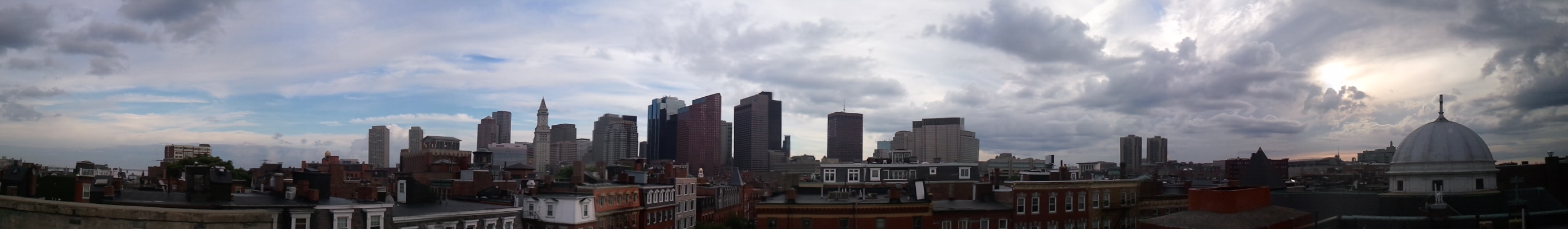 Boston panorama from a North End roof top.